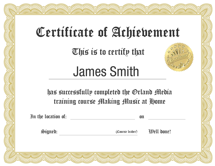 certificate making