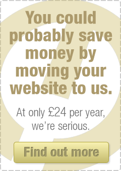 You could probably save money by moving your website to us